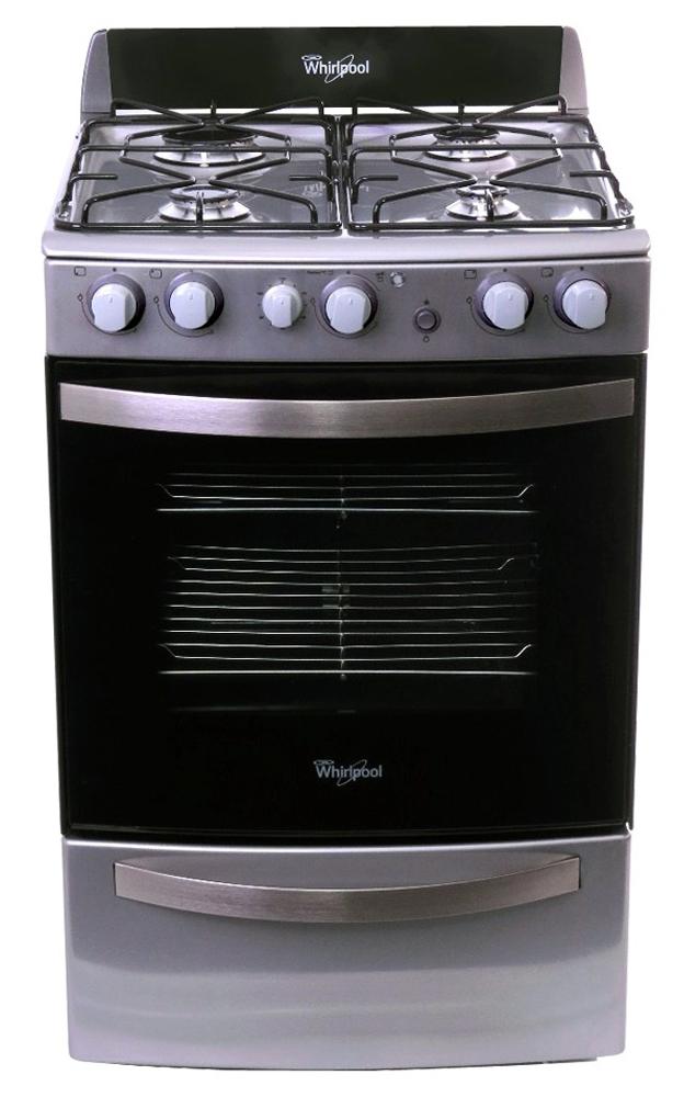 Cocina a gas con Grill – 4 hornallas – 55 cm – Acero Inoxidable