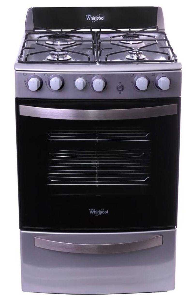 Cocina a gas – 4 hornallas – 55 cm – Acero Inoxidable