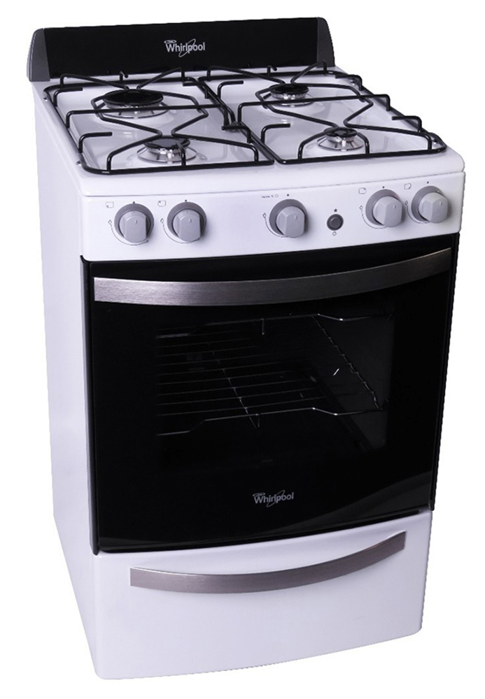 Wfb56db whirlpool argentina cocina a gas 55cm 4 for Cocinas whirlpool modelos