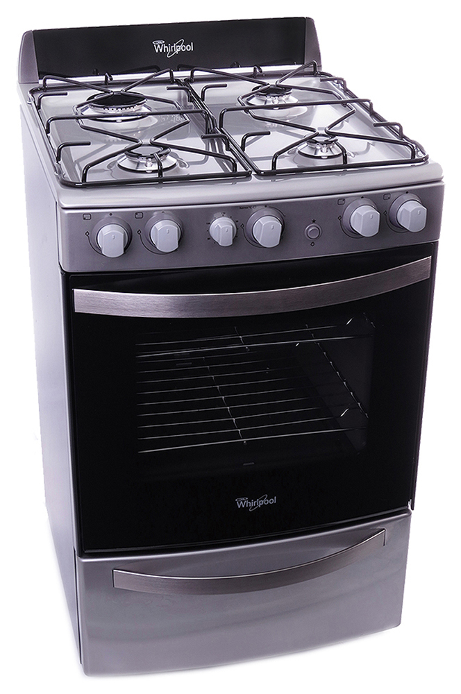Wfx56dx whirlpool argentina cocina a gas 4 hornallas for Cocina para gas natural