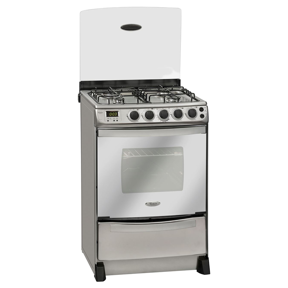 Cocina a gas 4 quemadores 65 lts whirlpool Cocina whirlpool con grill