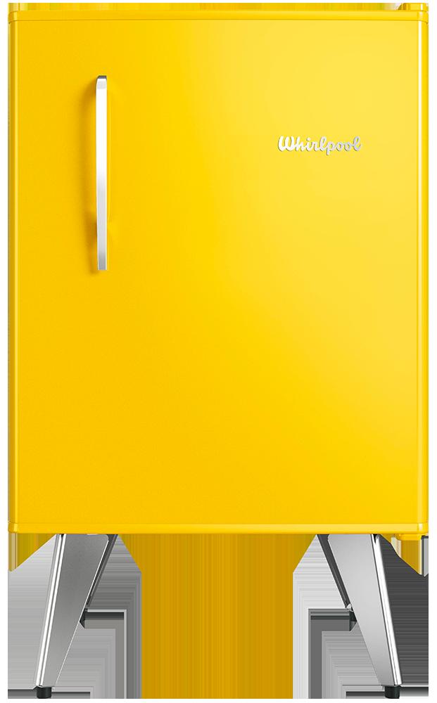 Heladera Compacta Retro – Sunlight Yellow – 76 lts